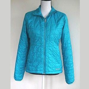 Quilted Blue Marmot Jacket Coat